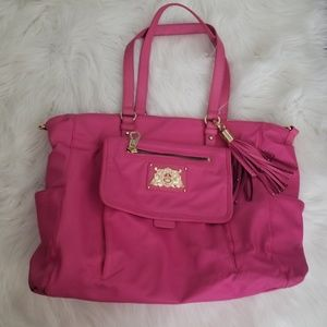 Juicy Couture pink nylon diaper bag w/changing pad